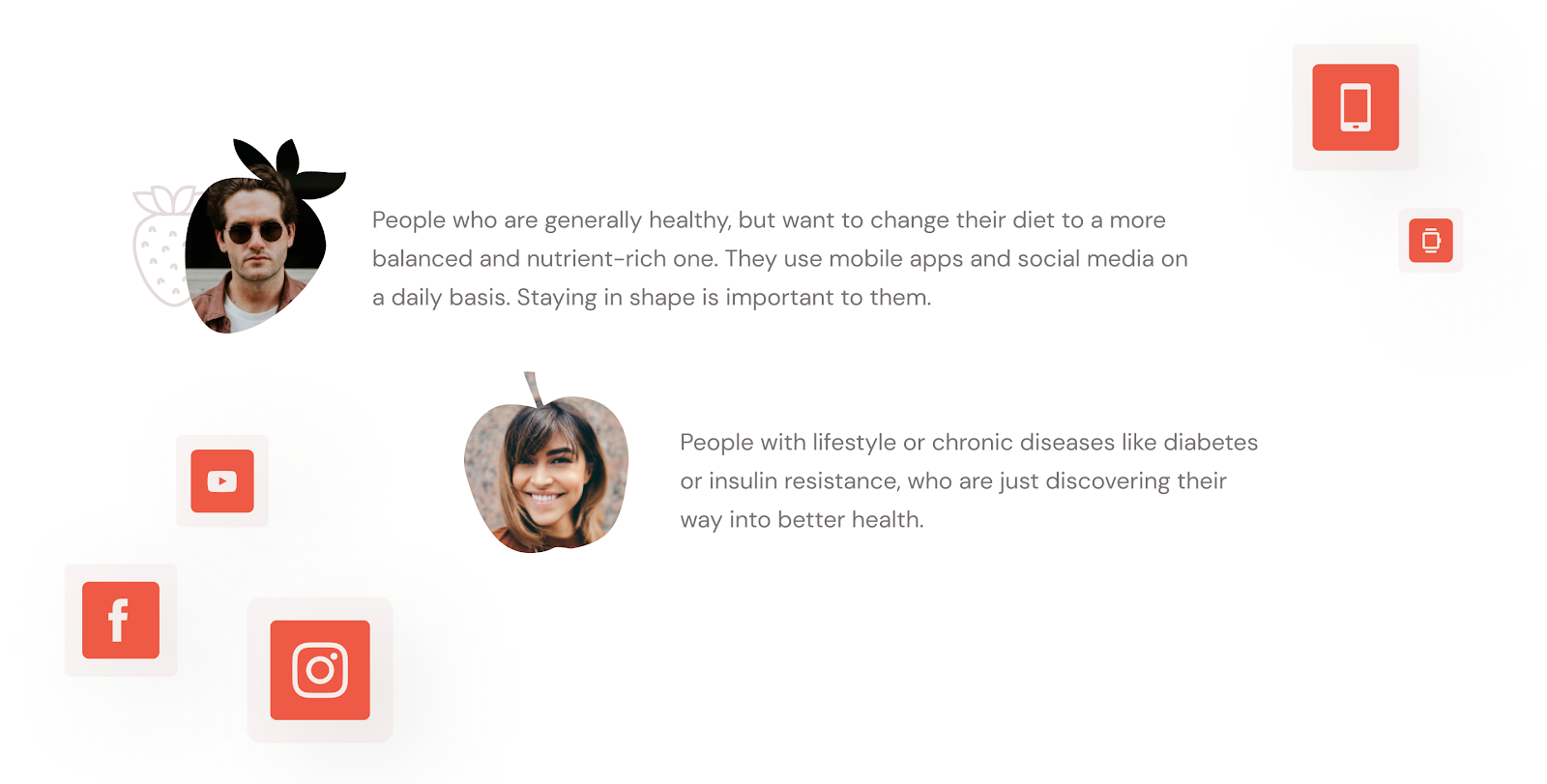 healthy meal app concept