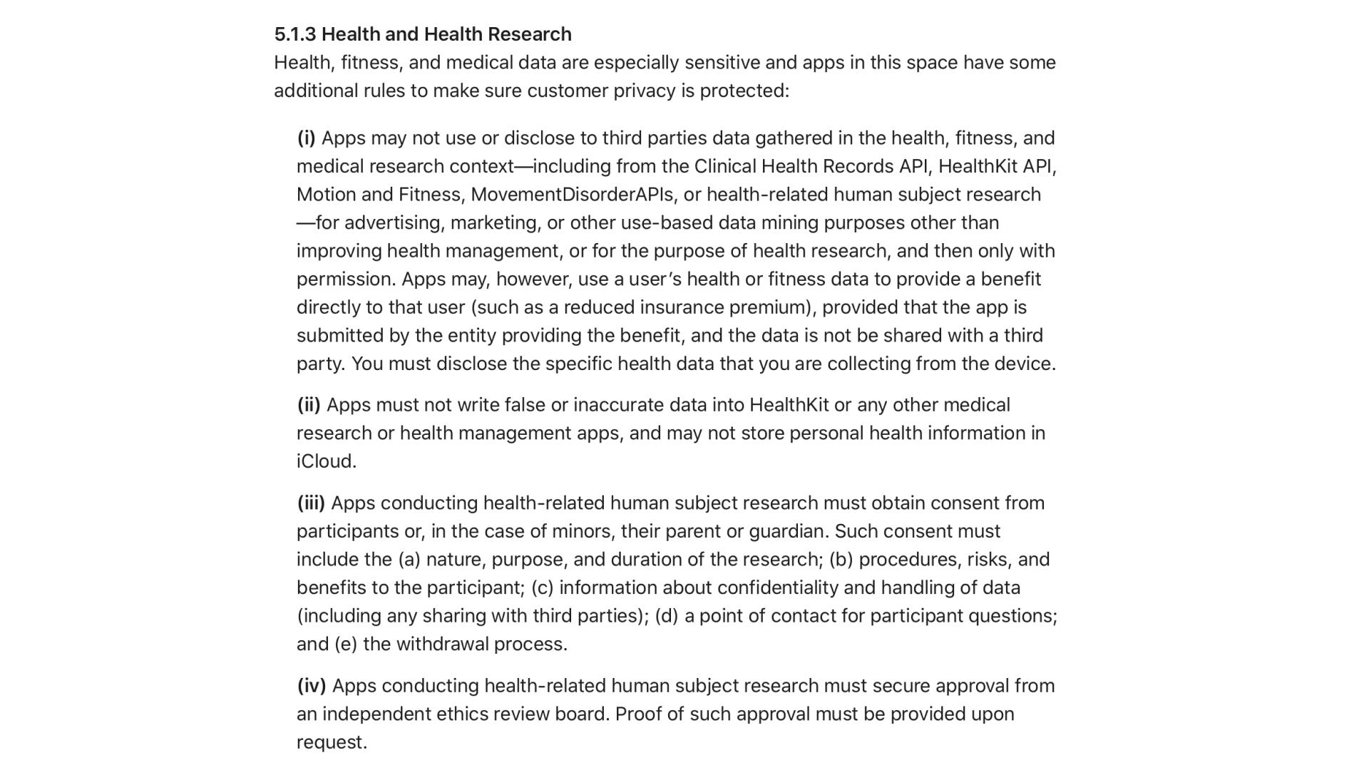 apple-healthcare-app-developer-guidelines