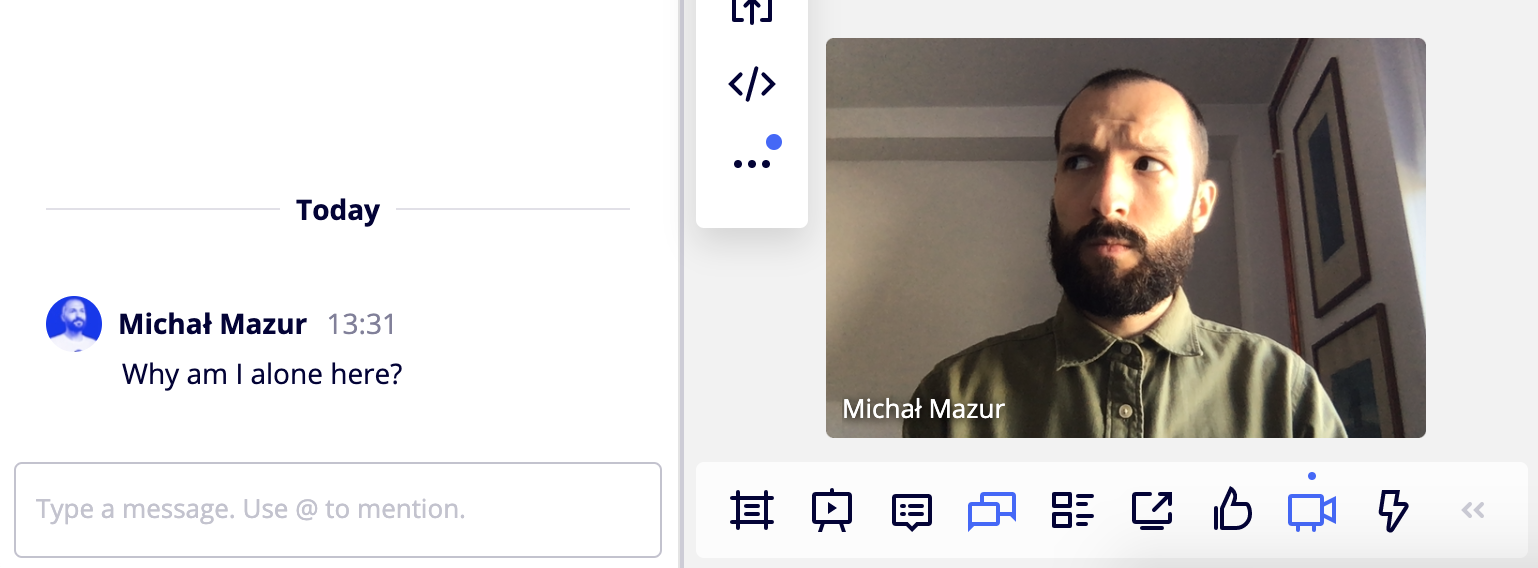 Miro chat features