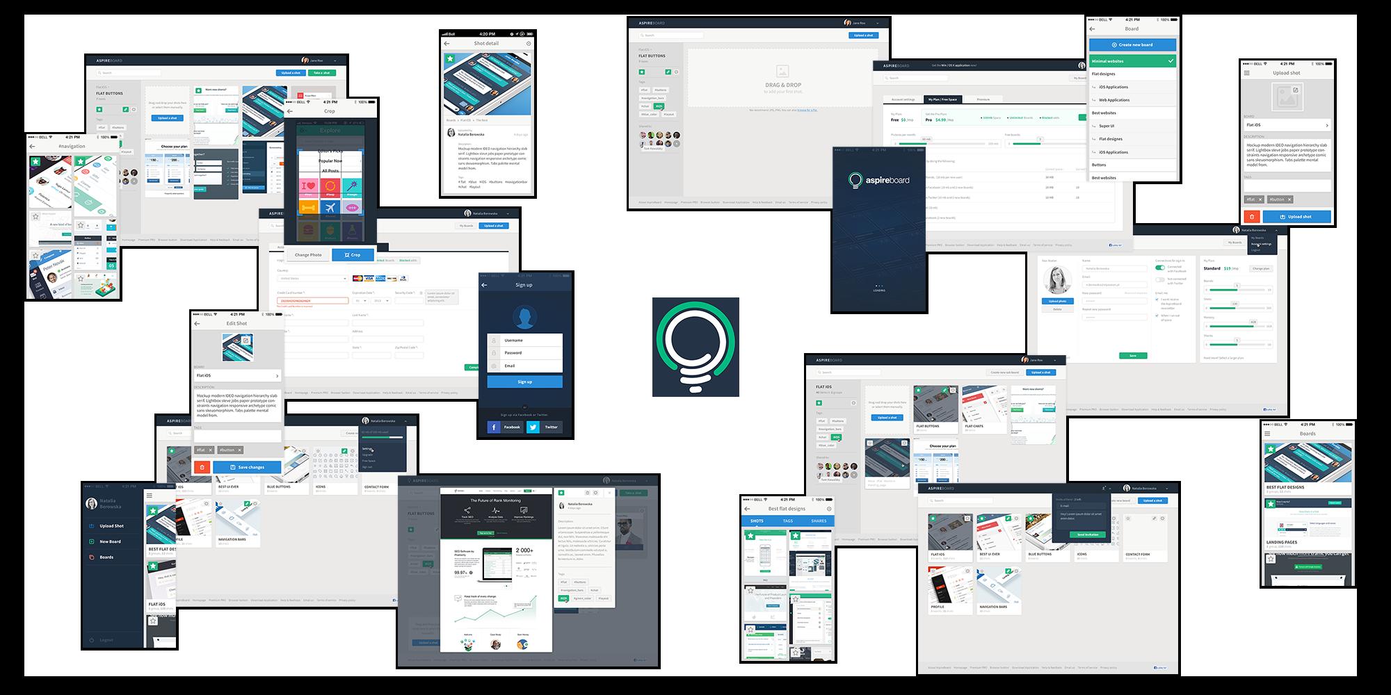aspireboard web app design